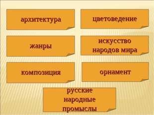 жанры русские народные промыслы орнамент композиция архитектура искусство нар