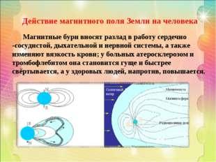 Действие магнитного поля Земли на человека Магнитные бури вносят разлад в раб