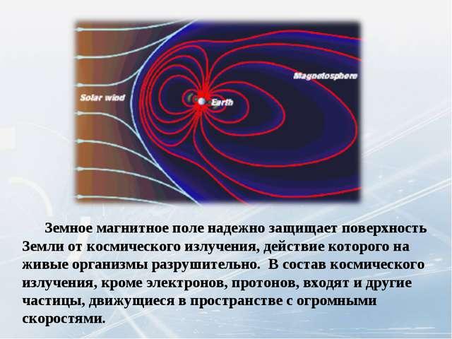 Земное магнитное поле надежно защищает поверхность Земли от космического изл...