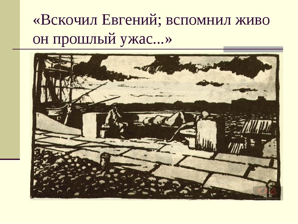 «Вскочил Евгений; вспомнил живо он прошлый ужас...»