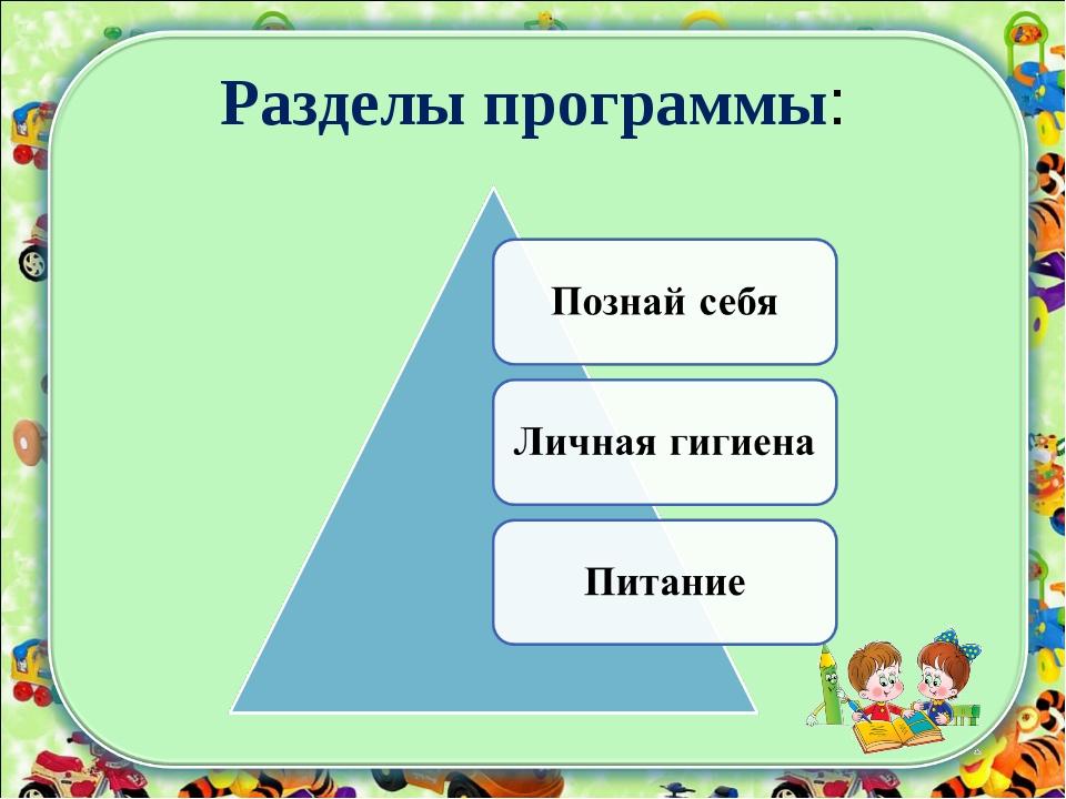 Разделы программы: