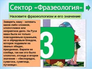 3 Заварить кашу - затевать какое-либо сложное, хлопотливое или неприятное дел