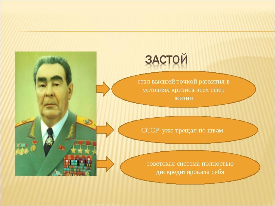 стал высшей точкой развития в условиях кризиса всех сфер жизни СССР уже трещ...