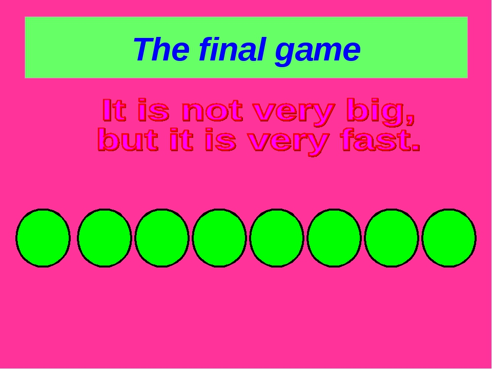 The final game