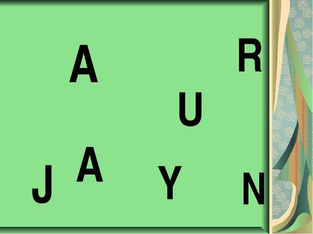J A A N U R Y