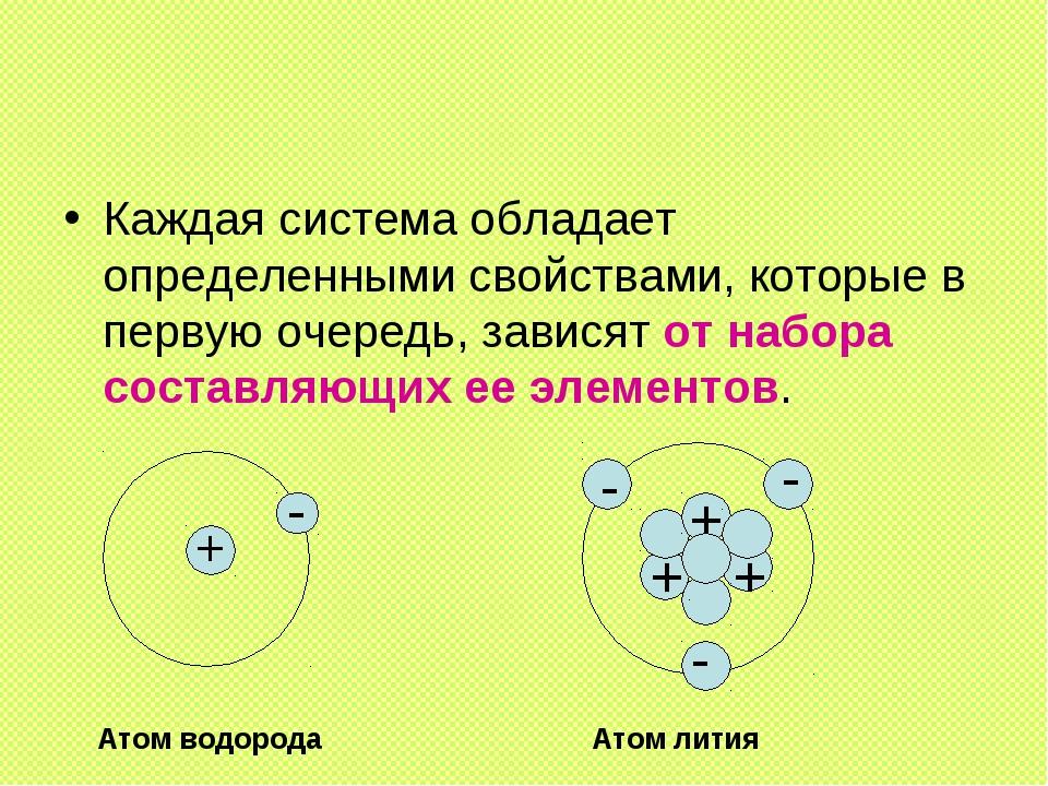 Каждая система обладает определенными свойствами, которые в первую очередь, з...