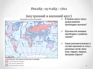 Инсайд –аутсайд - сёкл (внутренний и внешний круг) В странах какого типа и ур