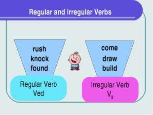 Regular and Irregular Verbs Regular Verb Ved Irregular Verb V2 found knock ru