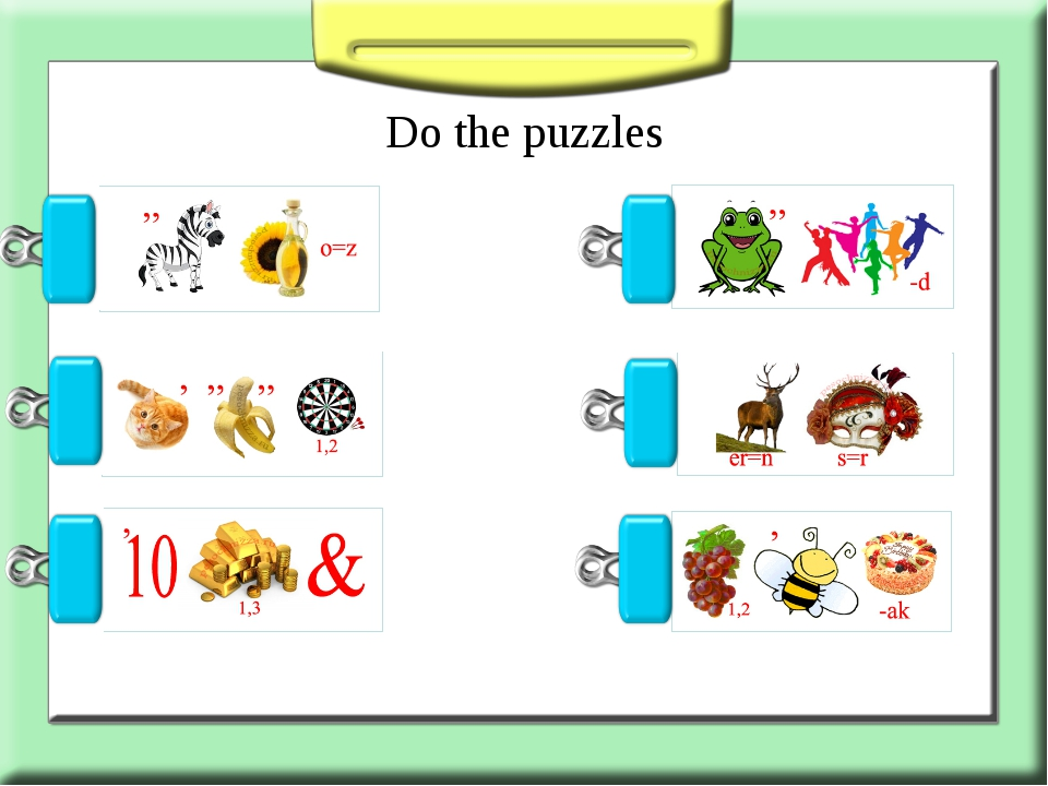 Do the puzzles