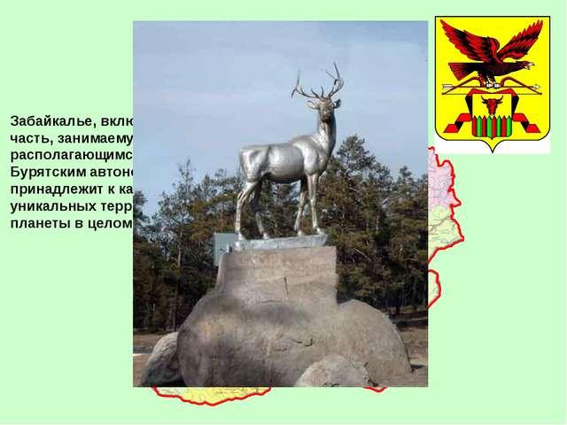 Забайкалье, включая его значительную часть, занимаемую Читинской областью и р...