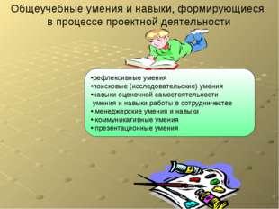 Общеучебные умения и навыки, формирующиеся в процессе проектной деятельности