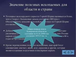 Потенциал железорудного сырья по Горной Шории оценивается более, чем в 2 млрд