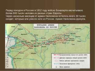 Перед походом в Россию в 1812 году войско Бонапарта насчитывало более 600 тыс