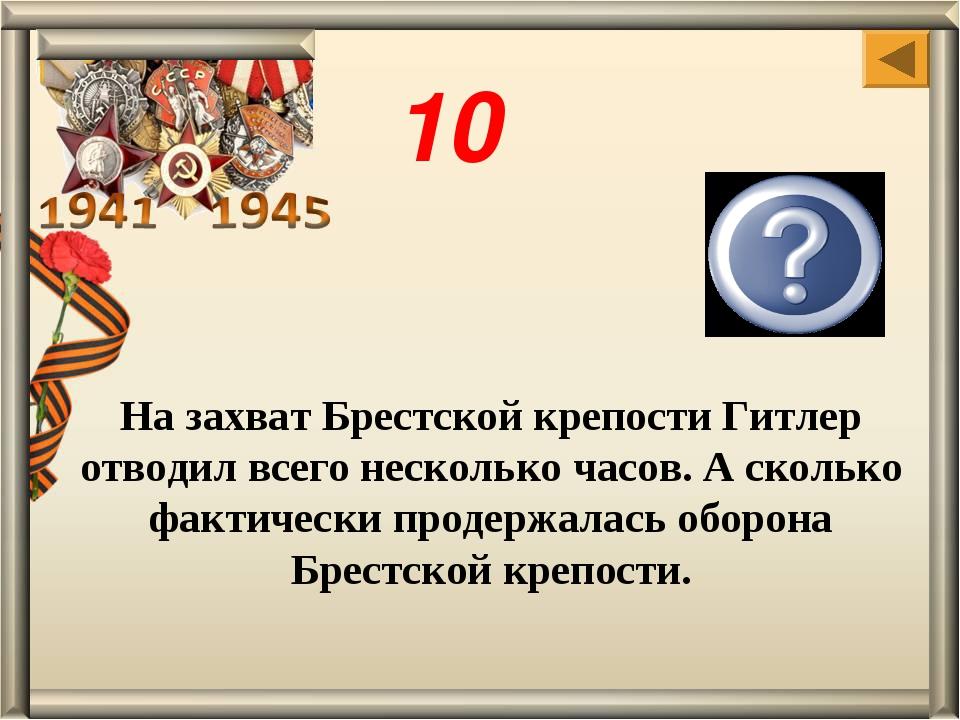 На захват Брестской крепости Гитлер отводил всего несколько часов. А сколько...