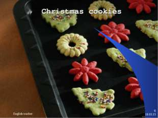 * English teacher * Christmas cookies English teacher