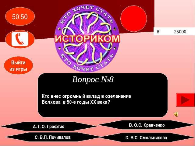 8 25000 А. Г.О. Графтио В. О.С. Кравченко D. В.С. Смольникова С. В.П. Почива...