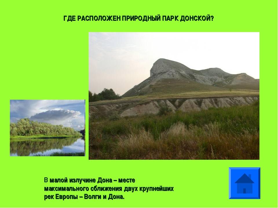 В малой излучине Дона – месте максимального сближения двух крупнейших рек Евр...