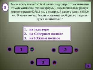 - + - 3 1 2 8 Земля представляет собой эллипсоид (шар с отклонениями от матем