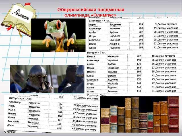 Общероссийская предметная олимпиада «Олимпус»