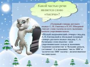 «Толковый словарь русского языка» С. И. Ожегова и Н. Ю. Шведовой считает сло