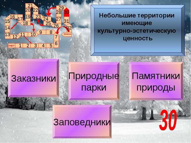 Памятники природы Заказники Заповедники Природные парки Небольшие территории...