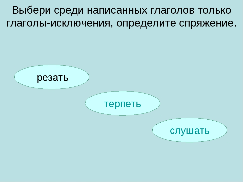 слушать терпеть Выбери среди написанных глаголов только глаголы-исключения, о...