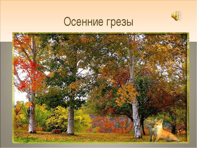 Осенние грезы