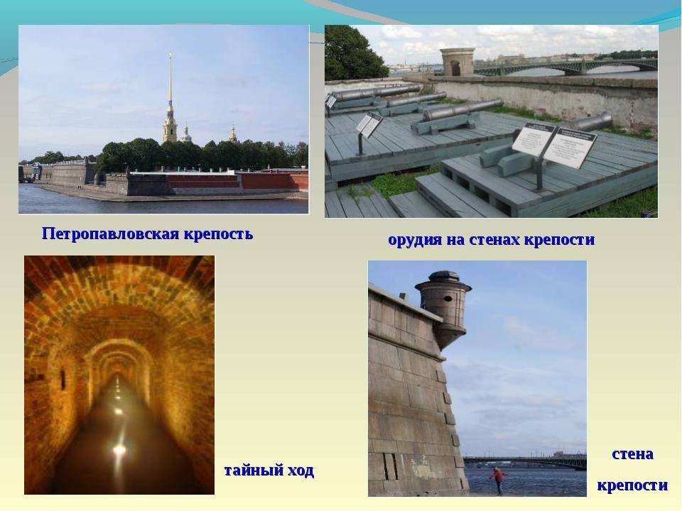 тайный ход стена крепости орудия на стенах крепости Петропавловская крепость