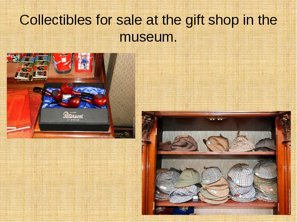 Collectibles for sale at the gift shop in the museum.