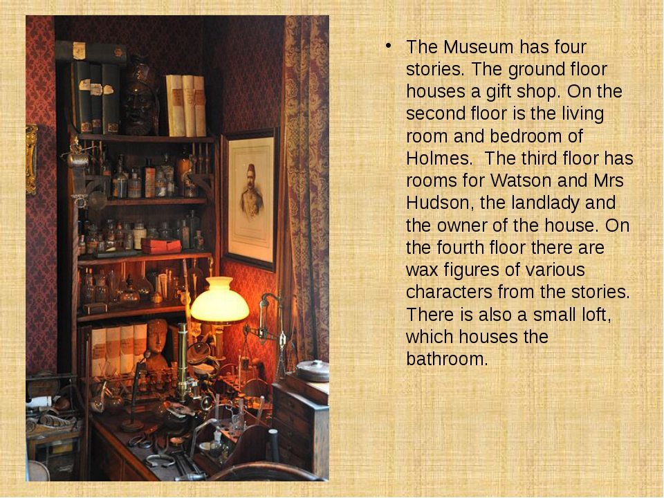The Museum has four stories. The ground floor houses a gift shop. On the seco...