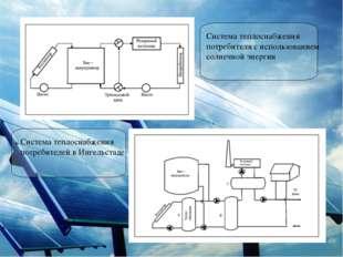 Система теплоснабжения потребителя с использованием солнечной энергии Система