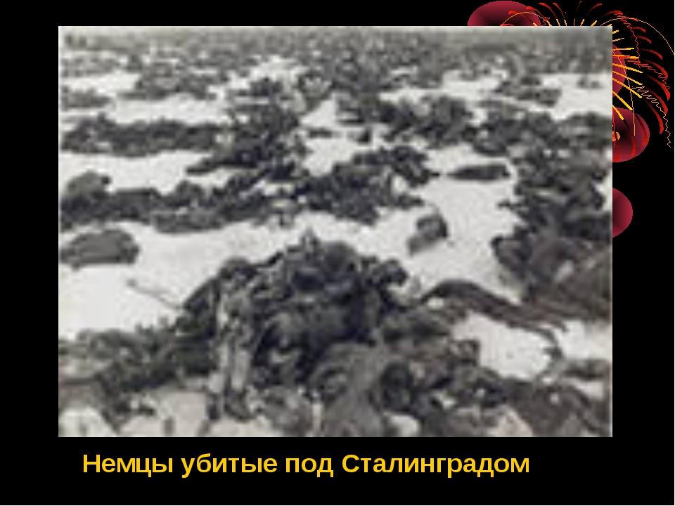 Немцы убитые под Сталинградом