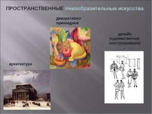 ПРОСТРАНСТВЕННЫЕ Неизобразительные искусства дизайн (художественное конструир