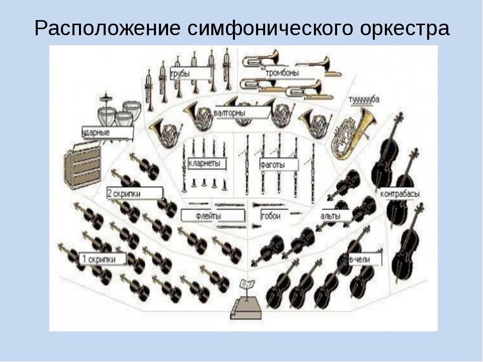 Расположение симфонического оркестра