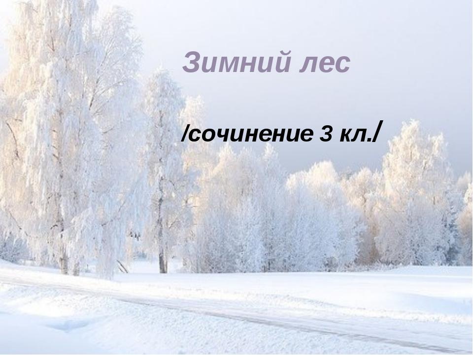 Зимний лес /сочинение 3 кл./