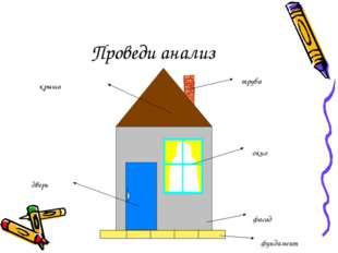 Проведи анализ крыша труба окно фасад дверь фундамент