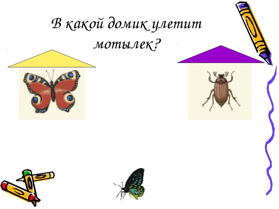 В какой домик улетит мотылек?