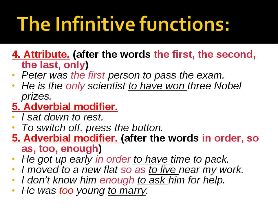 4. Attribute. (after the words the first, the second, the last, only) Peter w...