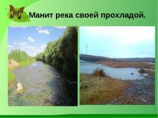 Манит река своей прохладой.
