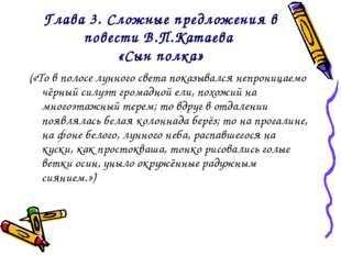 Глава 3. Сложные предложения в повести В.П.Катаева «Сын полка» («То в полосе