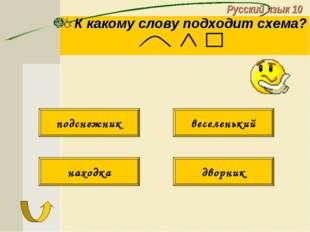 Русский язык 10 К какому слову подходит схема? подснежник веселенький находка