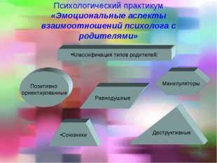 Психологический практикум «Эмоциональные аспекты взаимоотношений психолога с