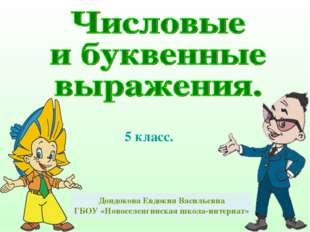 5 класс. Дондокова Евдокия Васильевна ГБОУ «Новоселенгинская школа-интернат»