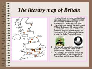 The literary map of Britain Agatha Christie visited a friend in Marple once a