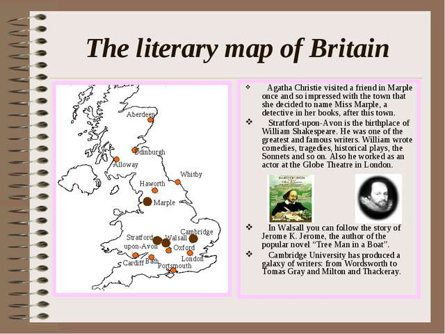 The literary map of Britain Agatha Christie visited a friend in Marple once a...