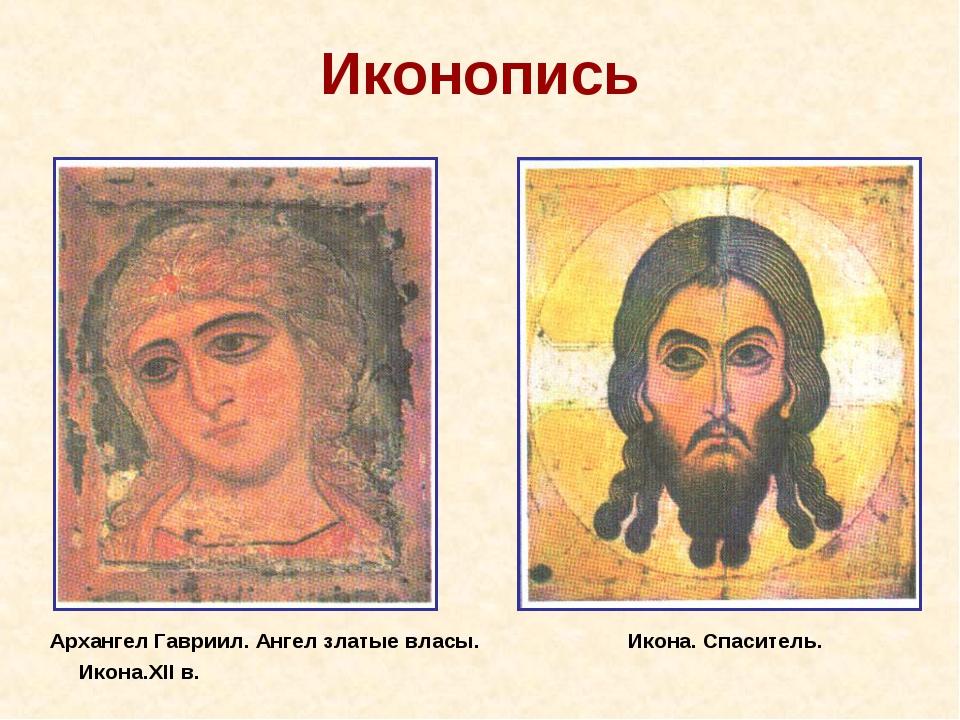 Иконопись Архангел Гавриил. Ангел златые власы. Икона. Спаситель. Икона.XII в.