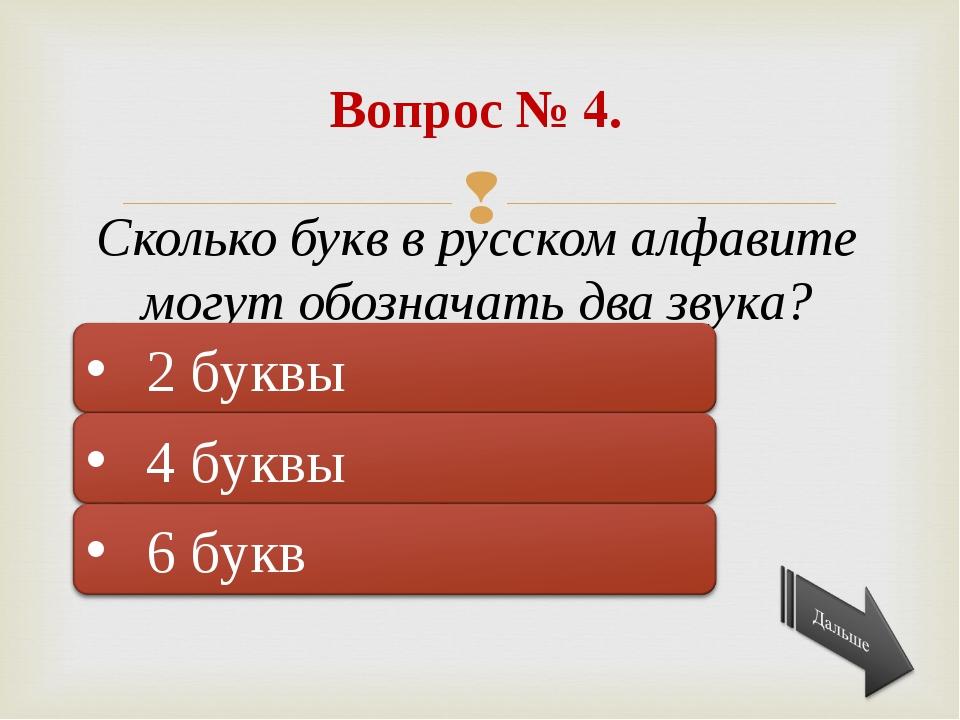 Подумай ещё! Правильно! Подумай ещё! Вопрос № 4. Сколько букв в русском алфа...