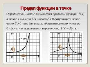 Предел функции в точке А а
