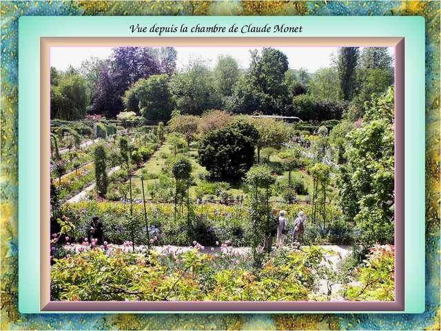 Vue depuis la chambre de Claude Monet
