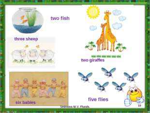 two fish three sheep six babies five flies two giraffes * Smirnova M.V. Plura